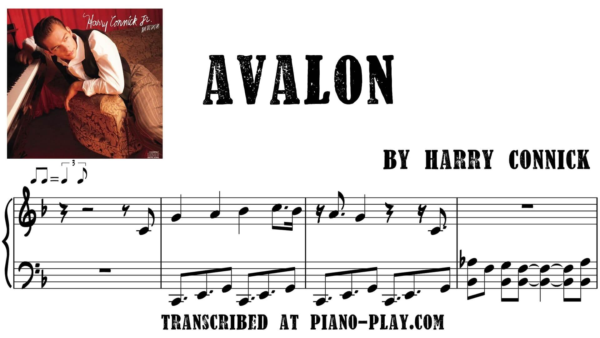 transcription Avalon - Harry Connick