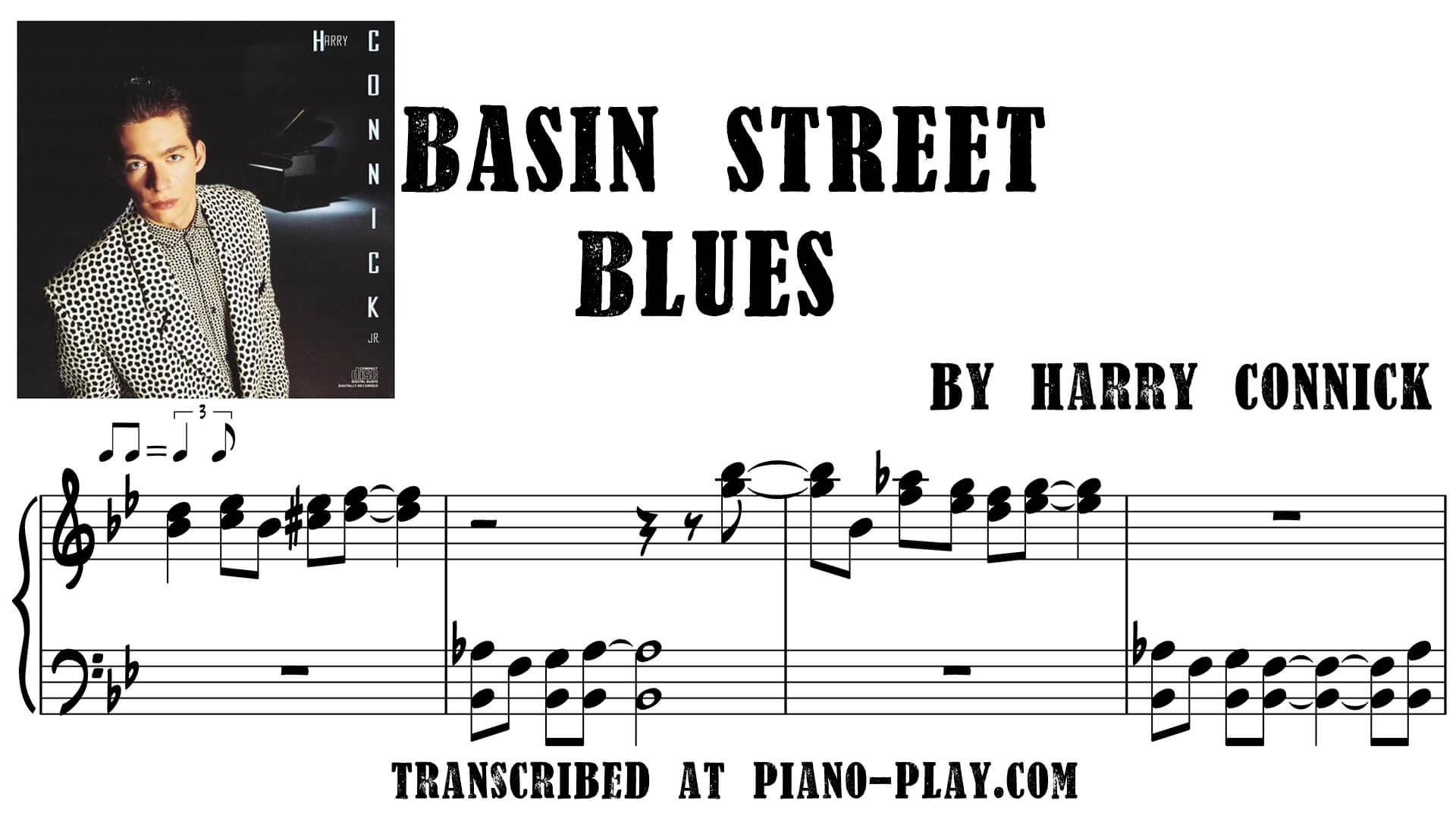 transcription Basin street blues - Harry Connick