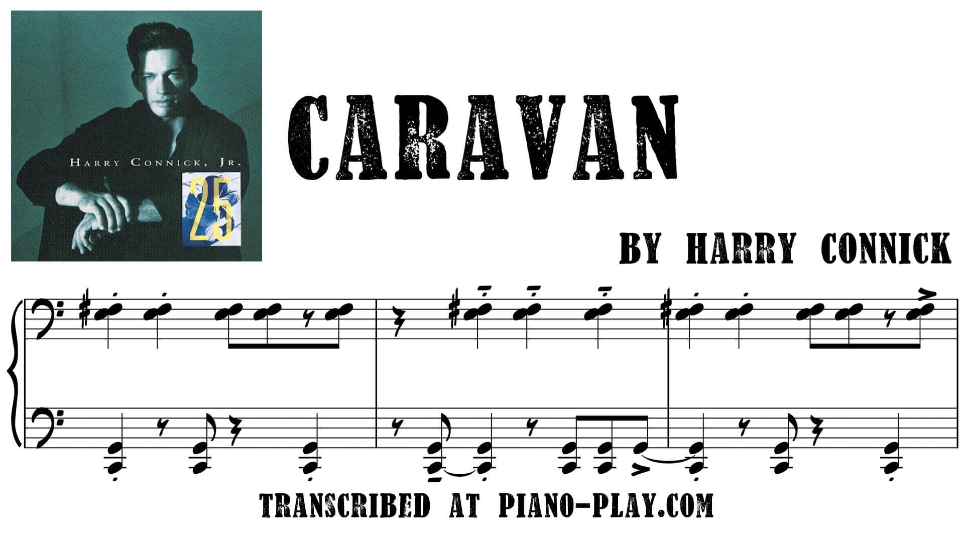 transcription Caravan - Harry Connick