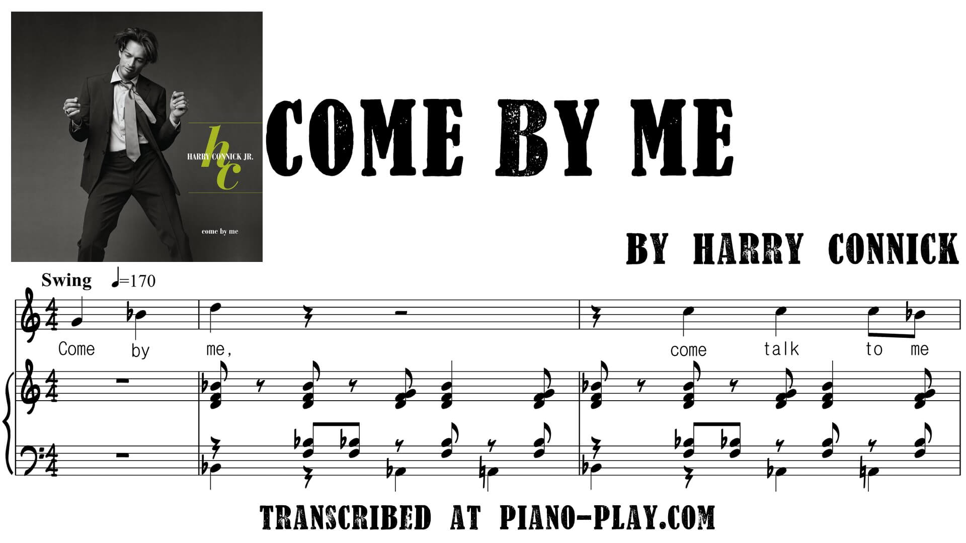 transcription Come by me - Harry Connick