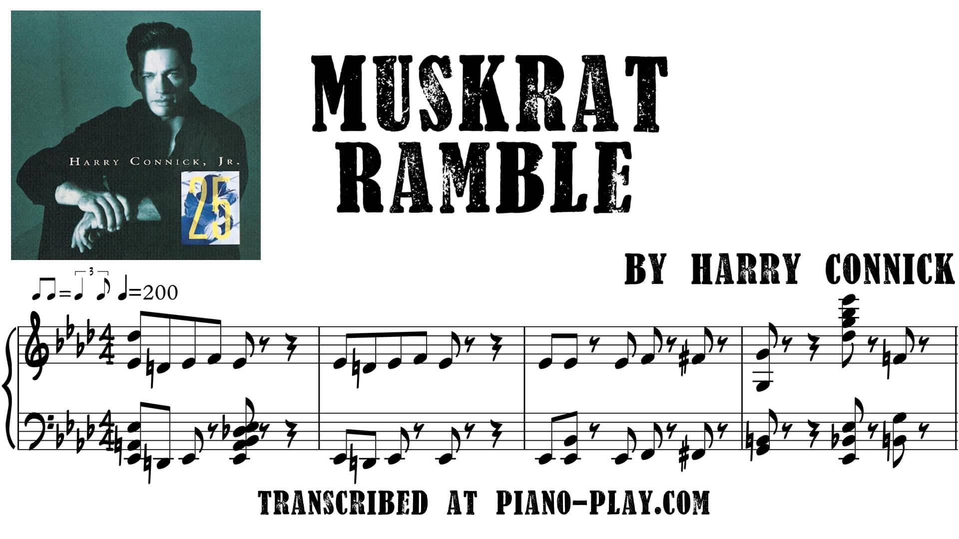 transcription Muskrat Ramble - Harry Connick