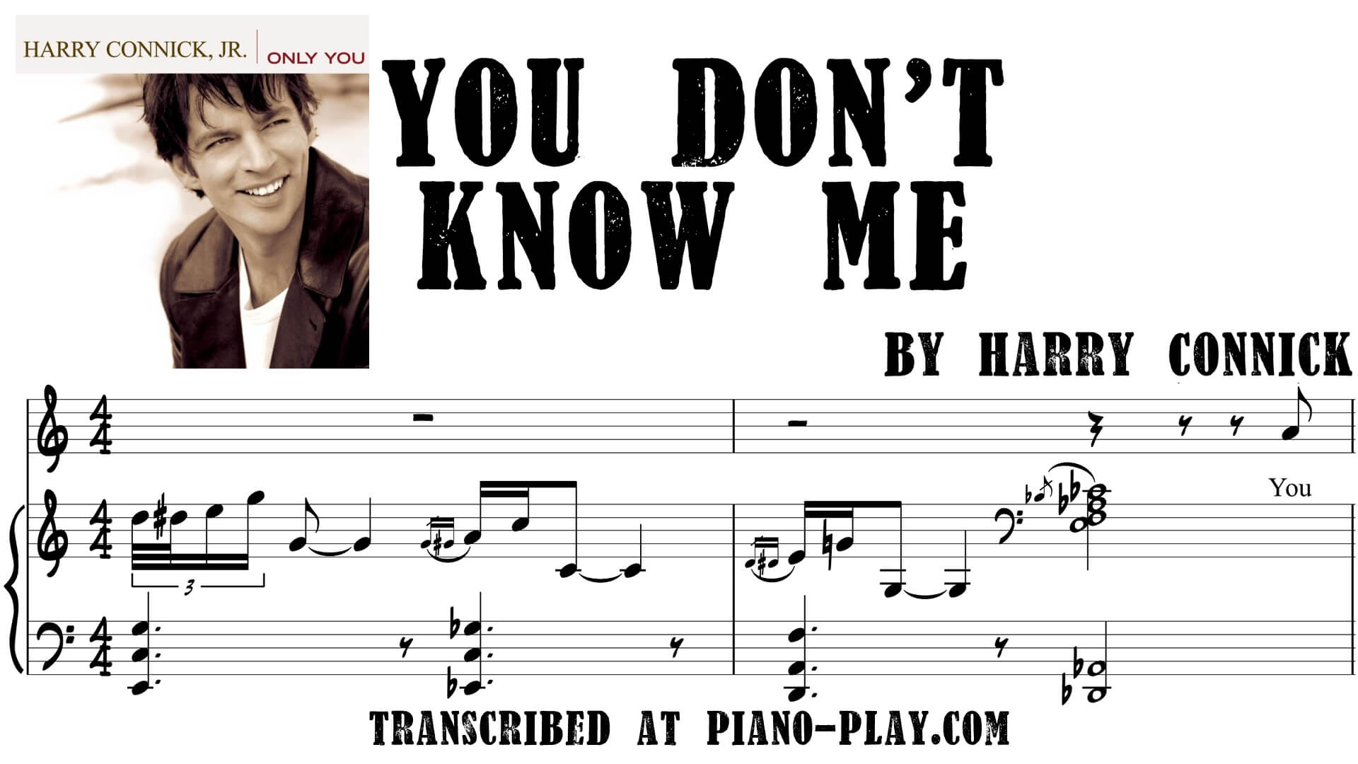 transcription You don't know me - Harry Connick
