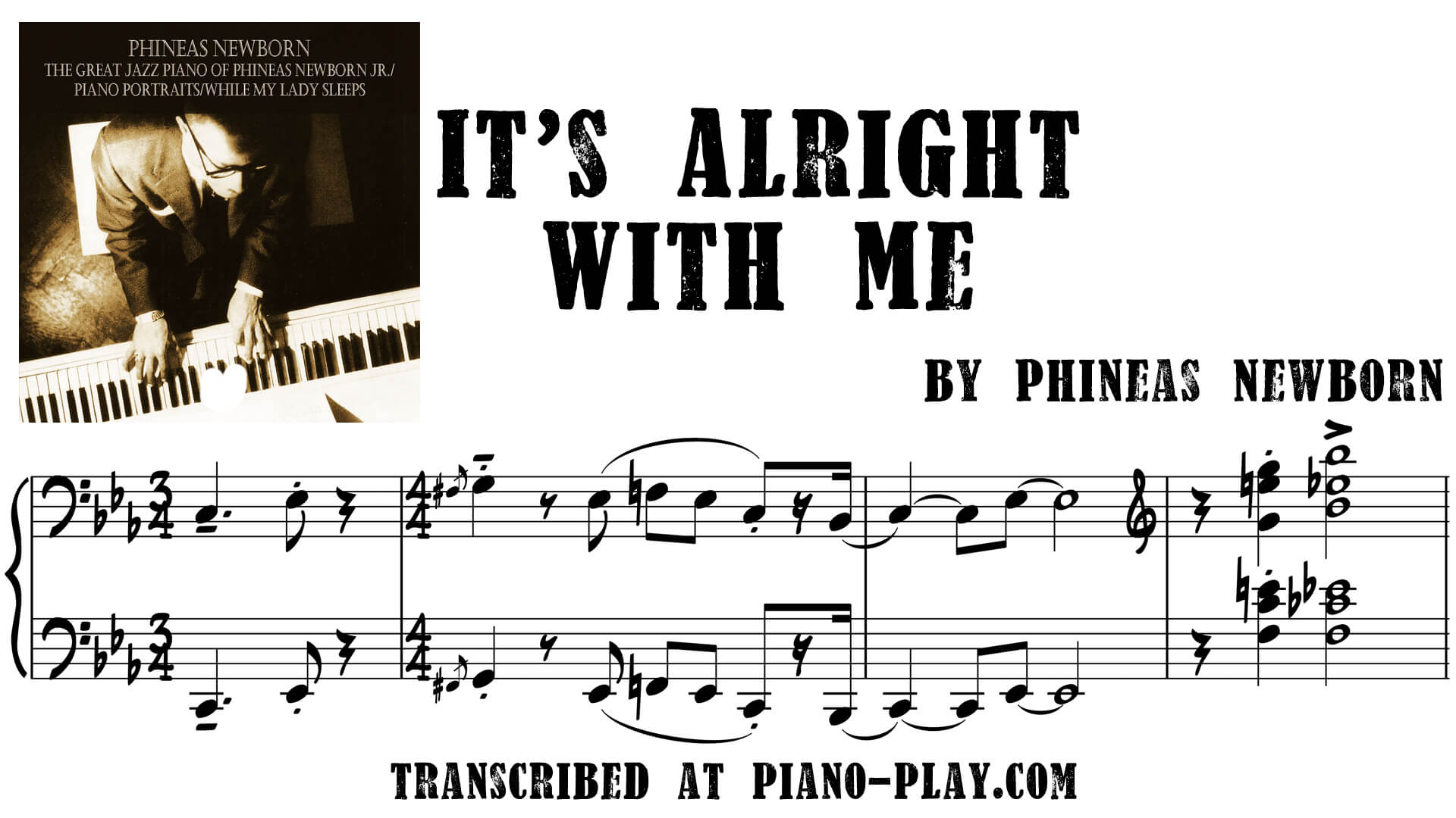 transcription Phineas Newborn It's Alright With Me