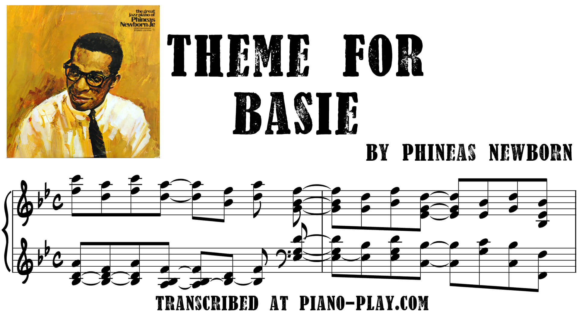 Phineas Newborn transcriptions: Blues Theme For Left Hand Only, It's