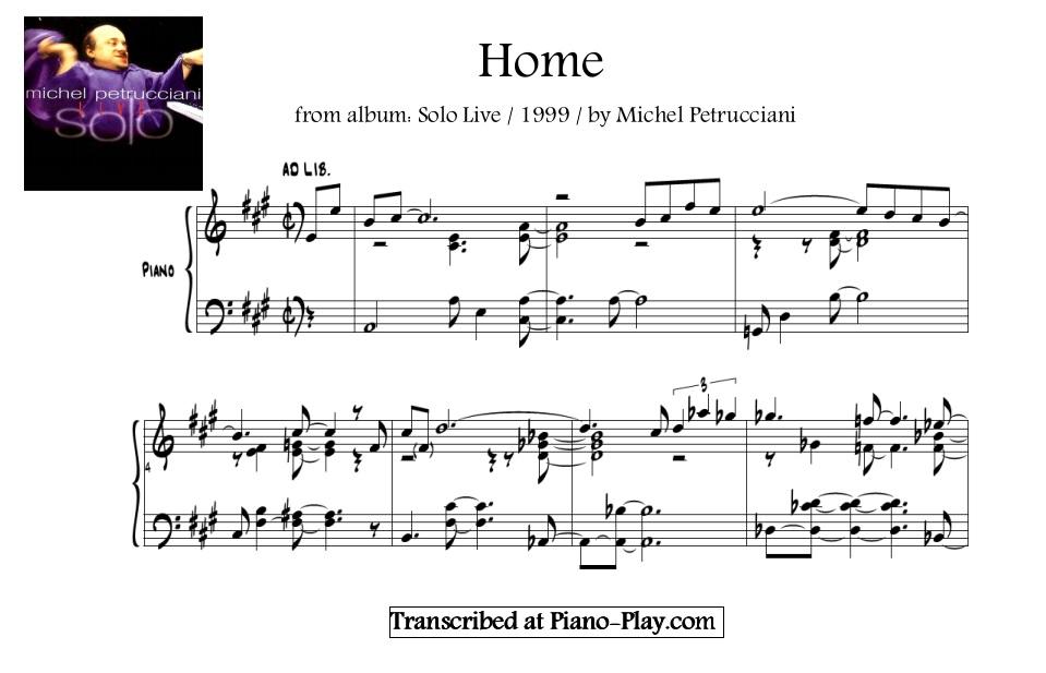 michel petrucciani transcription home in pdf midi